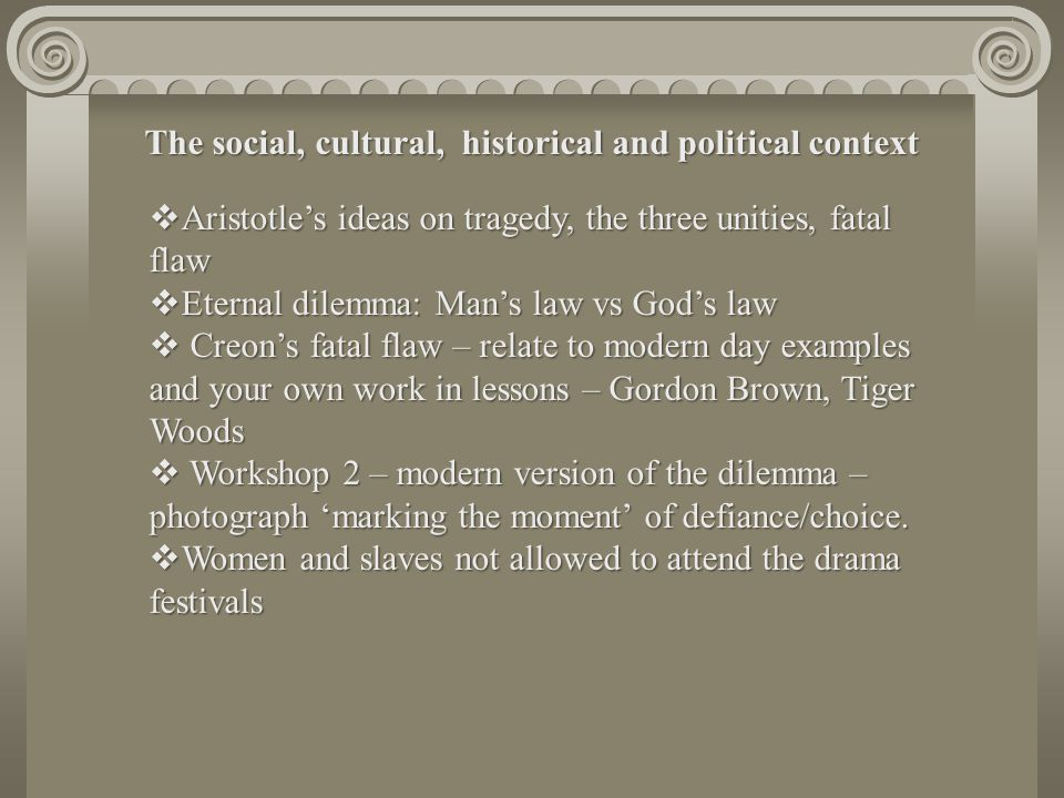 The social, cultural, historical and political context