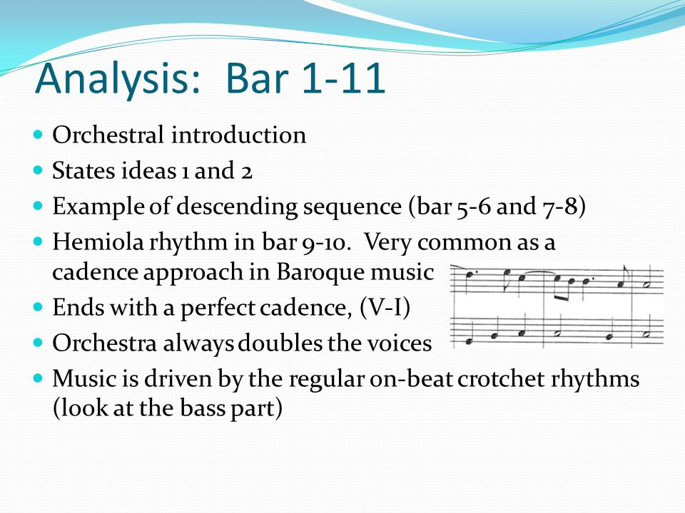 Analysis: Bar 1-11 Orchestral introduction States ideas 1 and 2