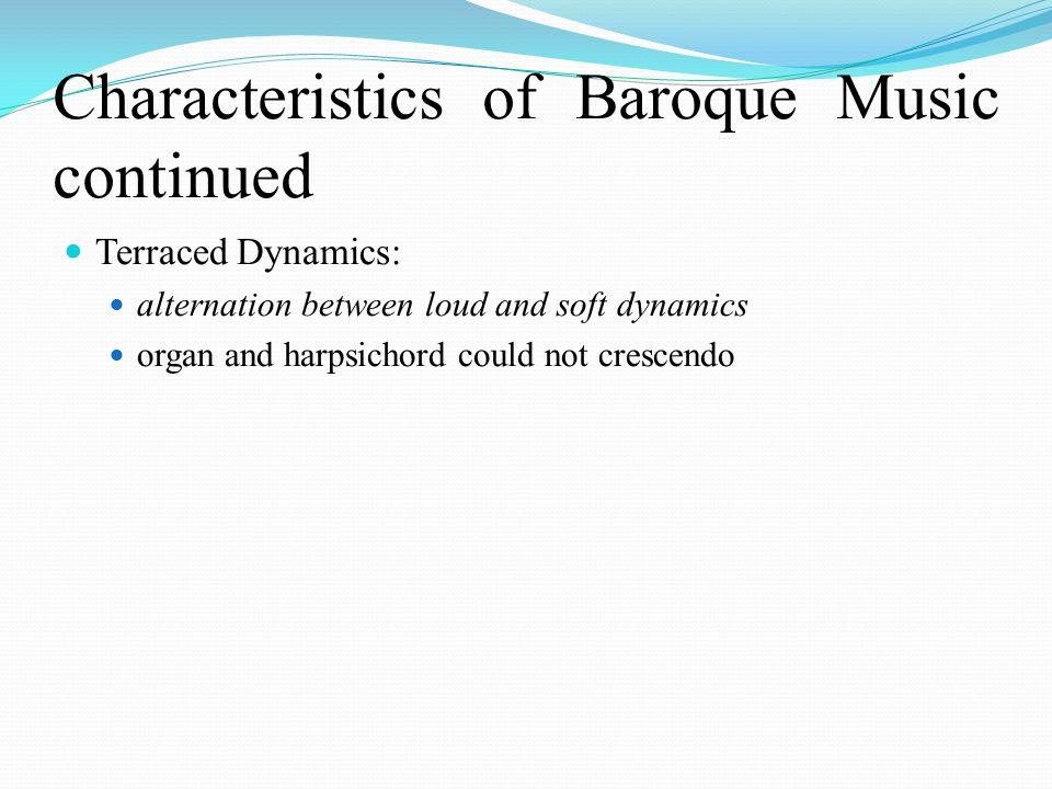 baroque music characteristics