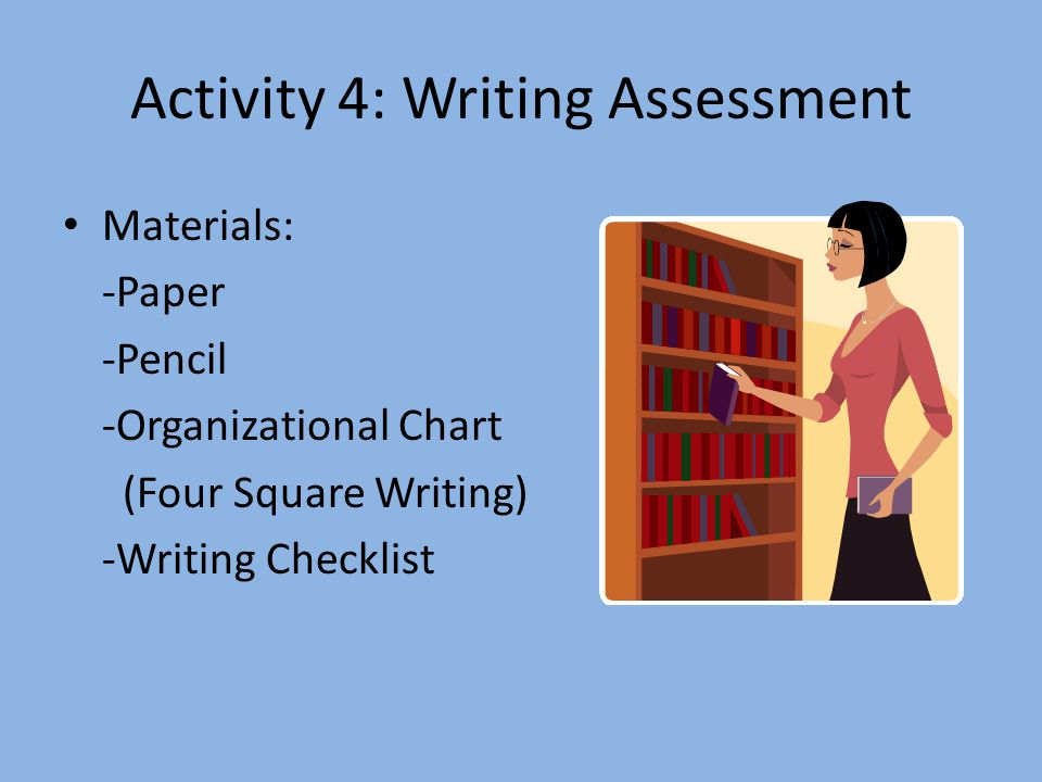 Activity 4: Writing Assessment