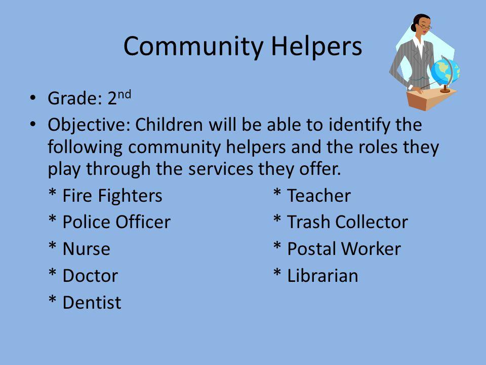 Community Helpers Grade: 2nd