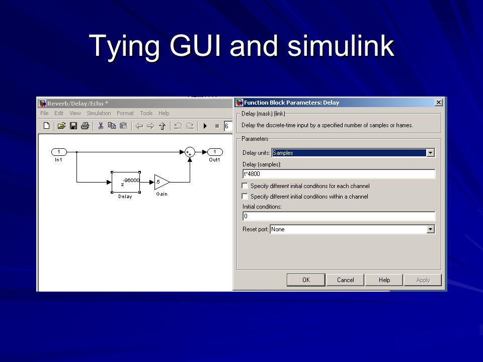Tying GUI and simulink