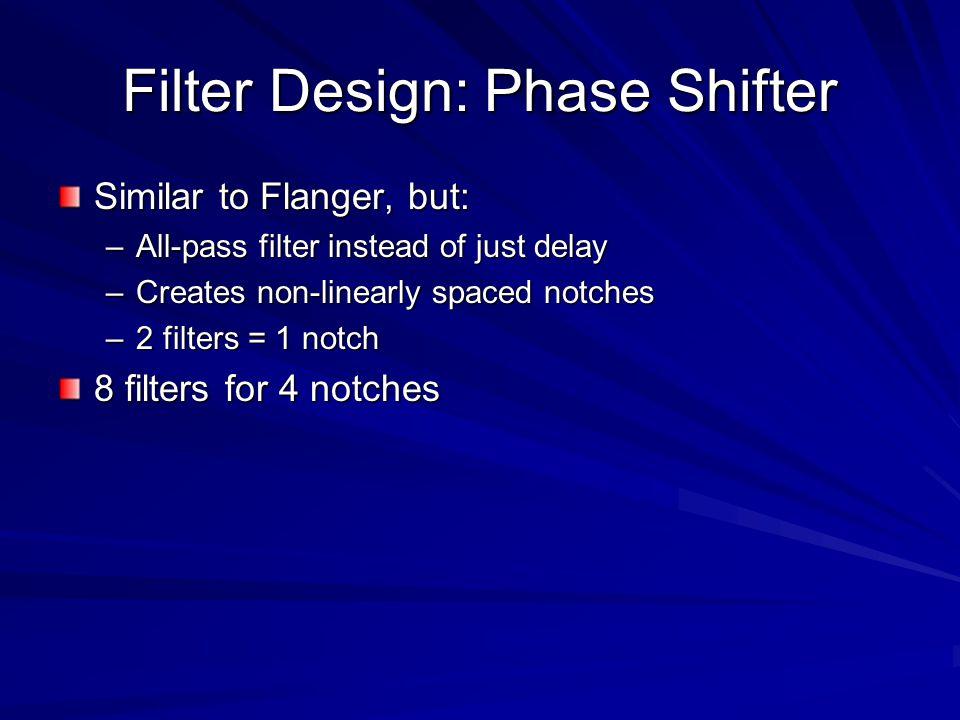 Filter Design: Phase Shifter