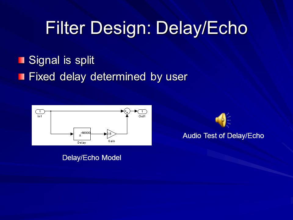 Filter Design: Delay/Echo