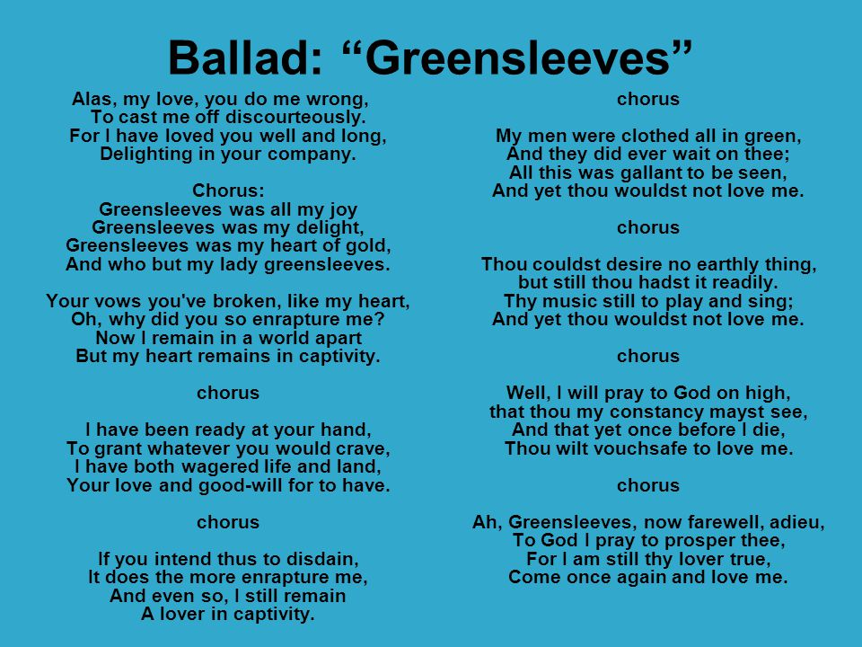 Ballad: Greensleeves