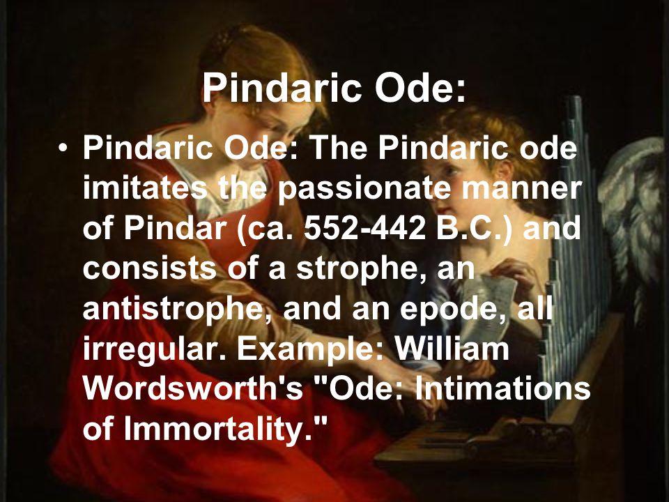 Pindaric Ode: