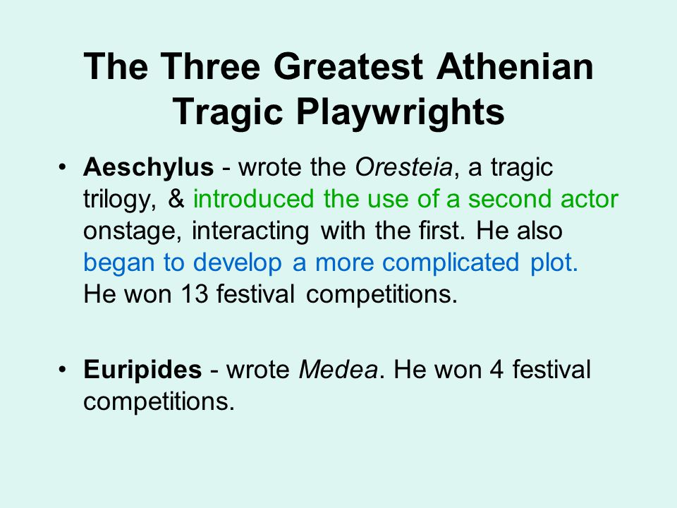 The Three Greatest Athenian Tragic Playwrights