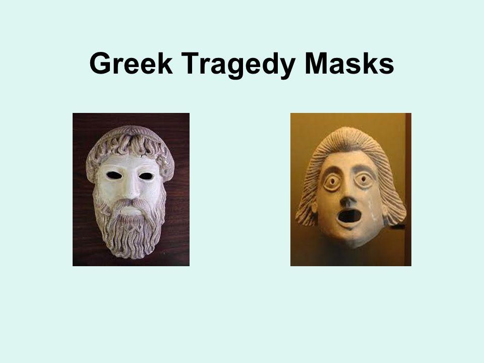 Greek Tragedy Masks Right - mask worn for a god
