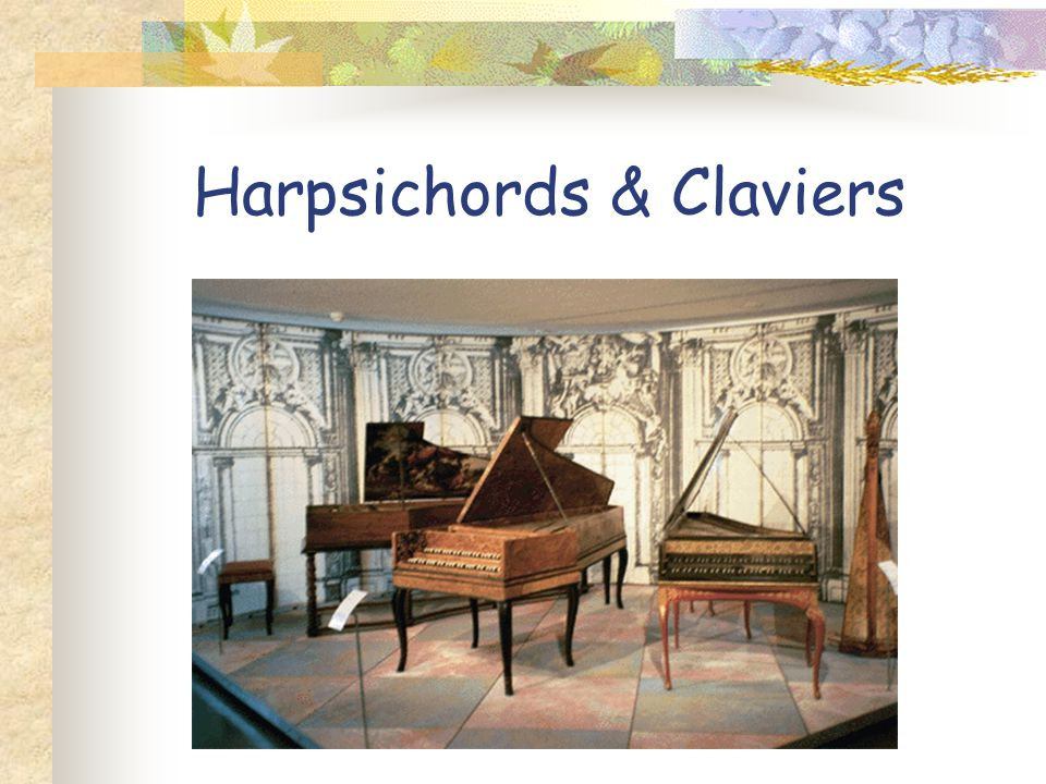 Harpsichords & Claviers