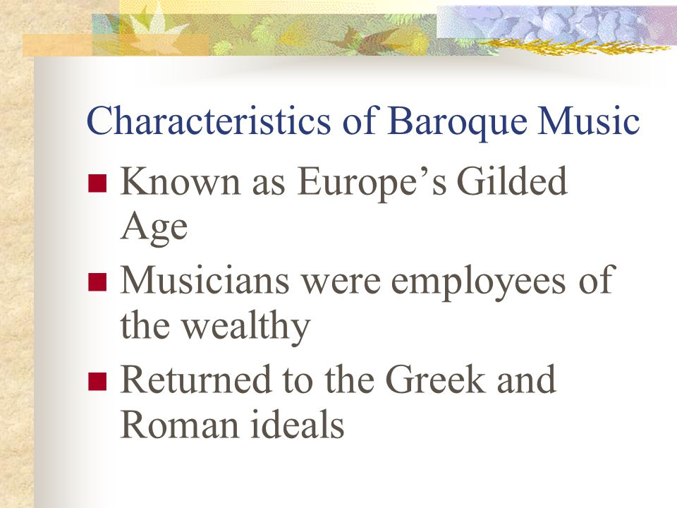 Characteristics of Baroque Music