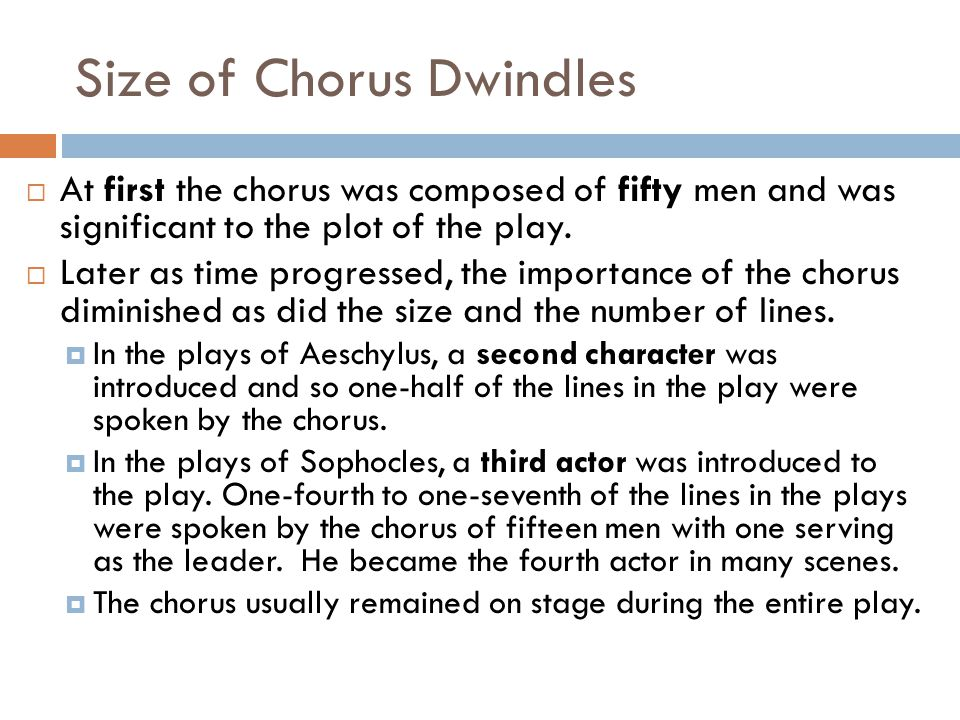 Size of Chorus Dwindles