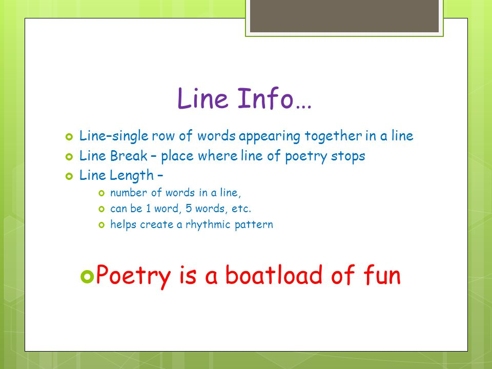 Poetry is a boatload of fun