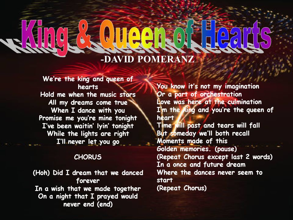 King & Queen of Hearts -DAVID POMERANZ