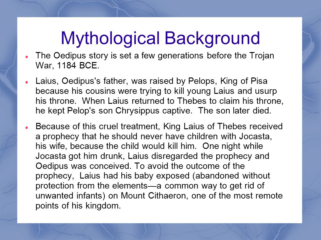 Mythological Background