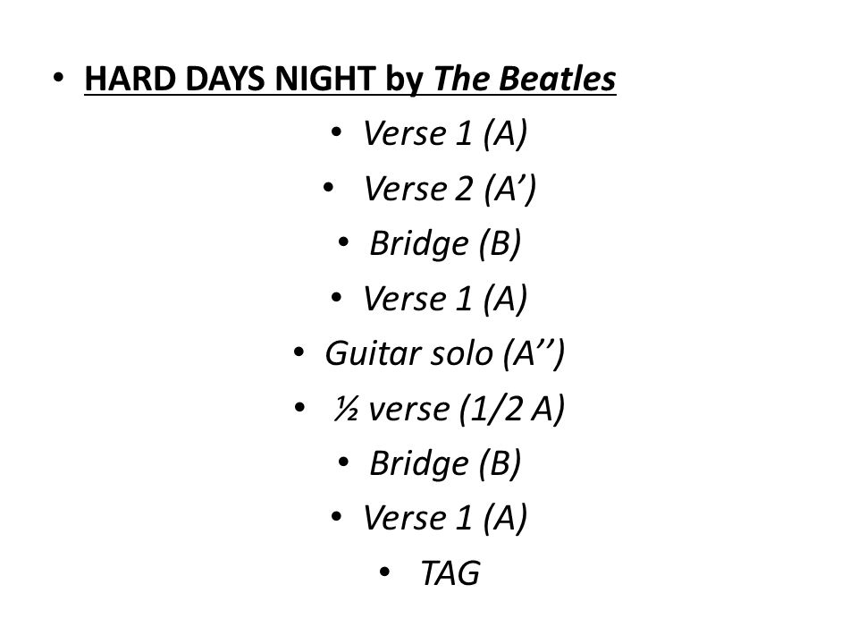 HARD DAYS NIGHT by The Beatles