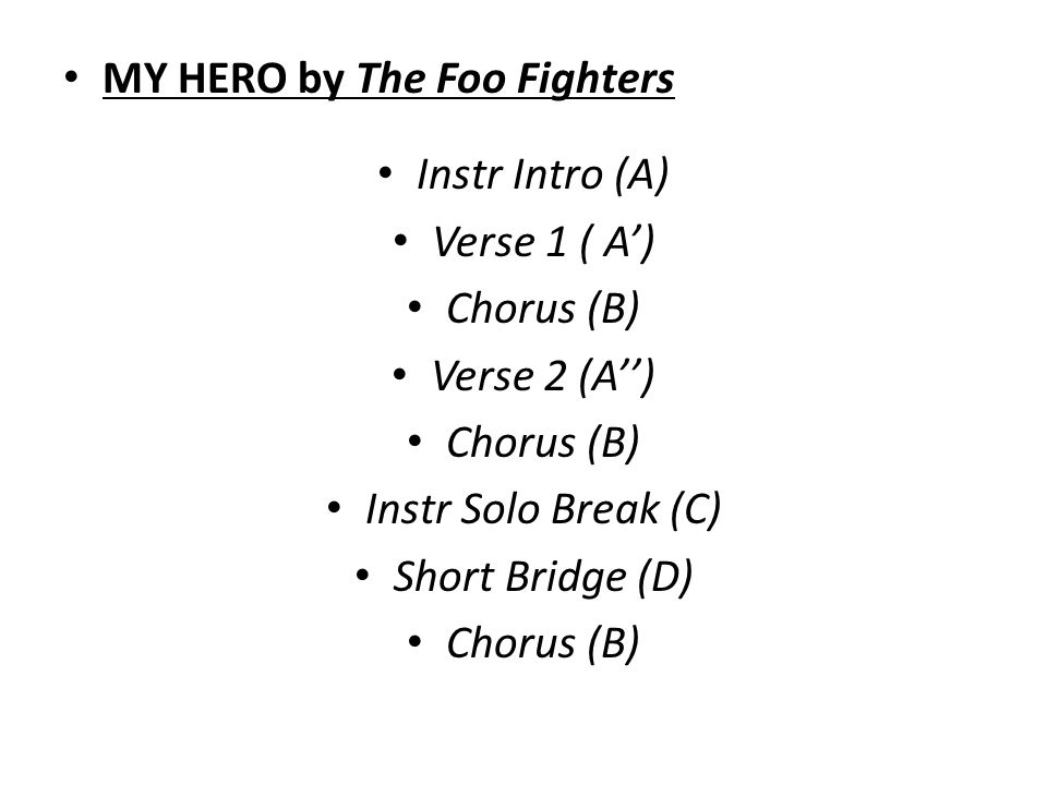 MY HERO by The Foo Fighters