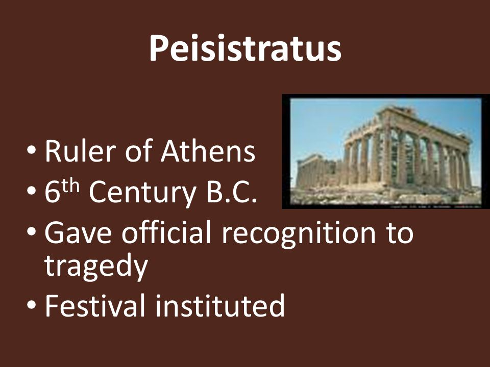 Peisistratus Ruler of Athens 6th Century B.C.