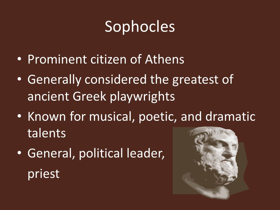 Sophocles Prominent citizen of Athens