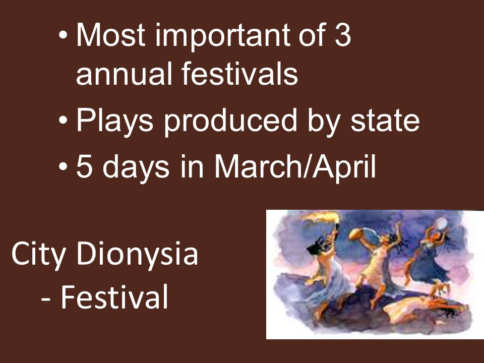 City Dionysia - Festival