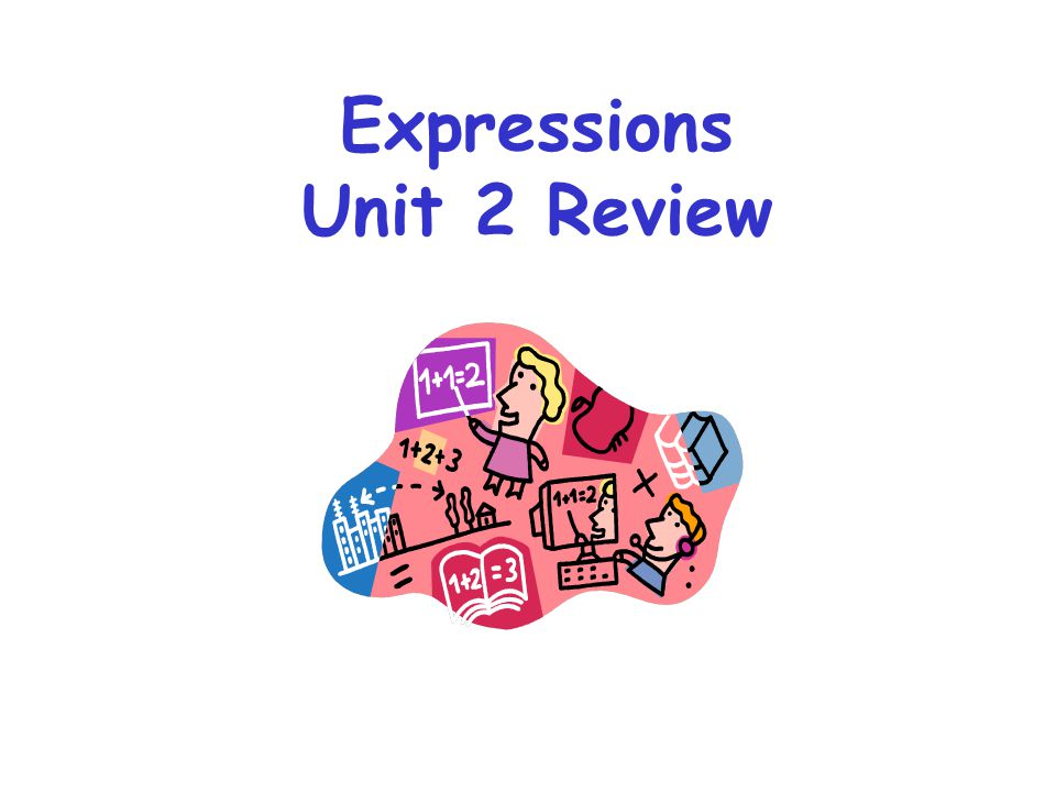 Expressions Unit 2 Review