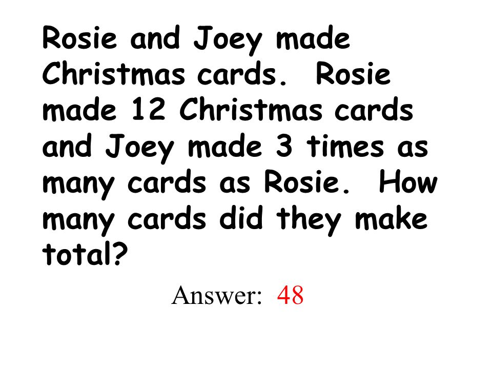 Rosie and Joey made Christmas cards