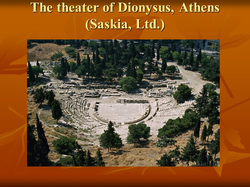 The theater of Dionysus, Athens (Saskia, Ltd.)