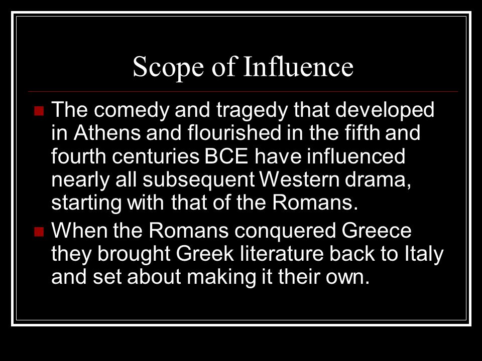 Scope of Influence