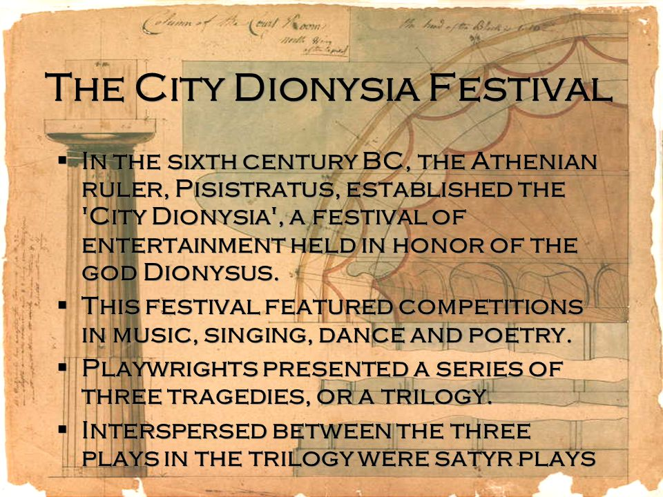 The City Dionysia Festival