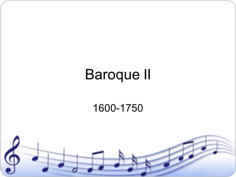 Baroque II 1600-1750