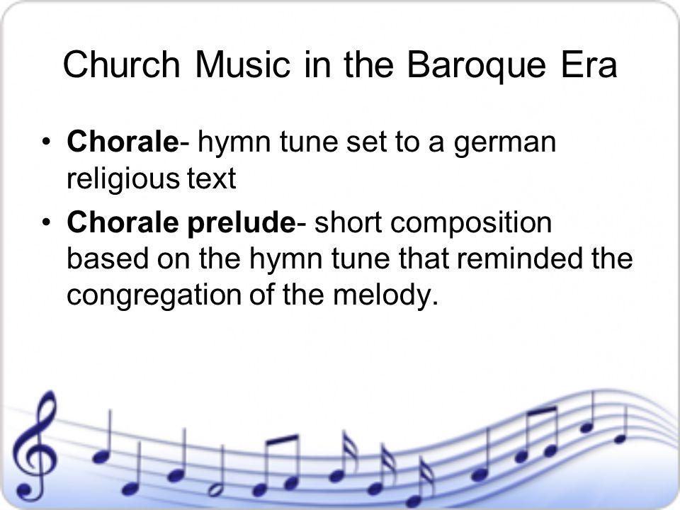 Church Music in the Baroque Era
