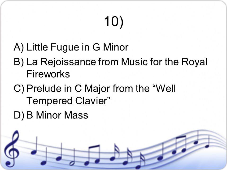 10) Little Fugue in G Minor