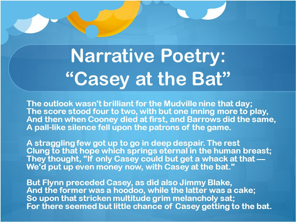Narrative Poetry: Casey at the Bat