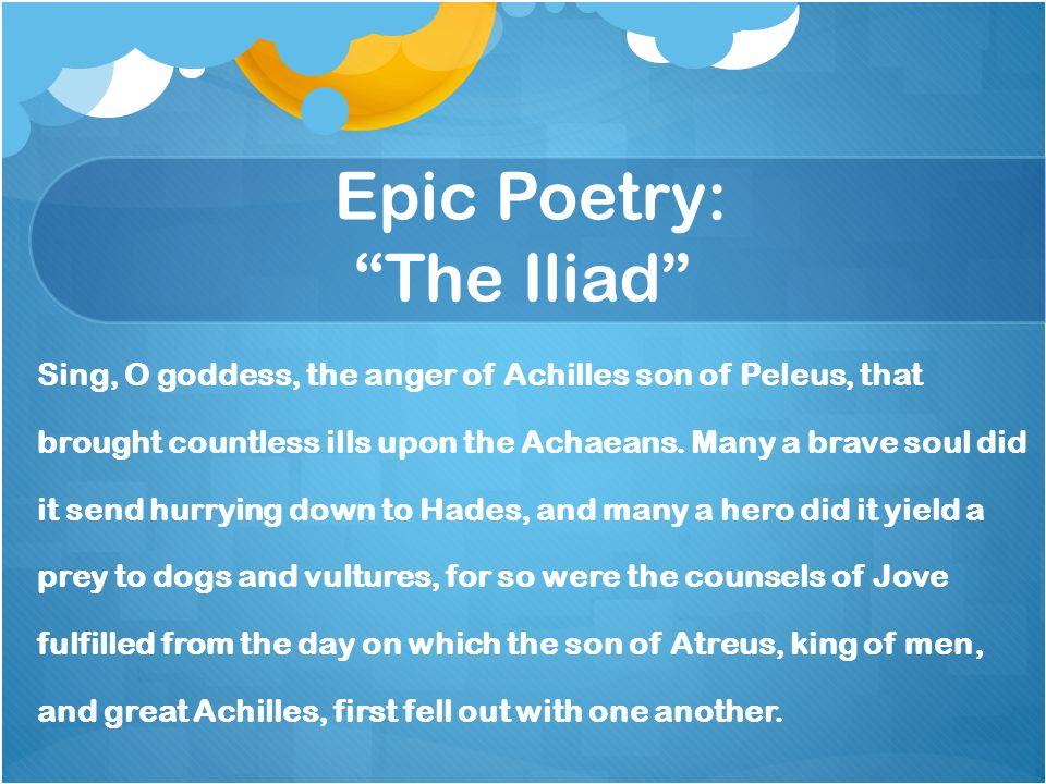 Epic Poetry: The Iliad