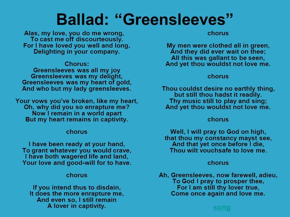 Ballad: Greensleeves
