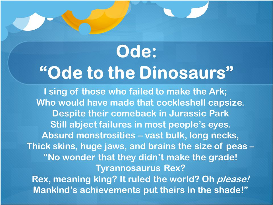 Ode: Ode to the Dinosaurs