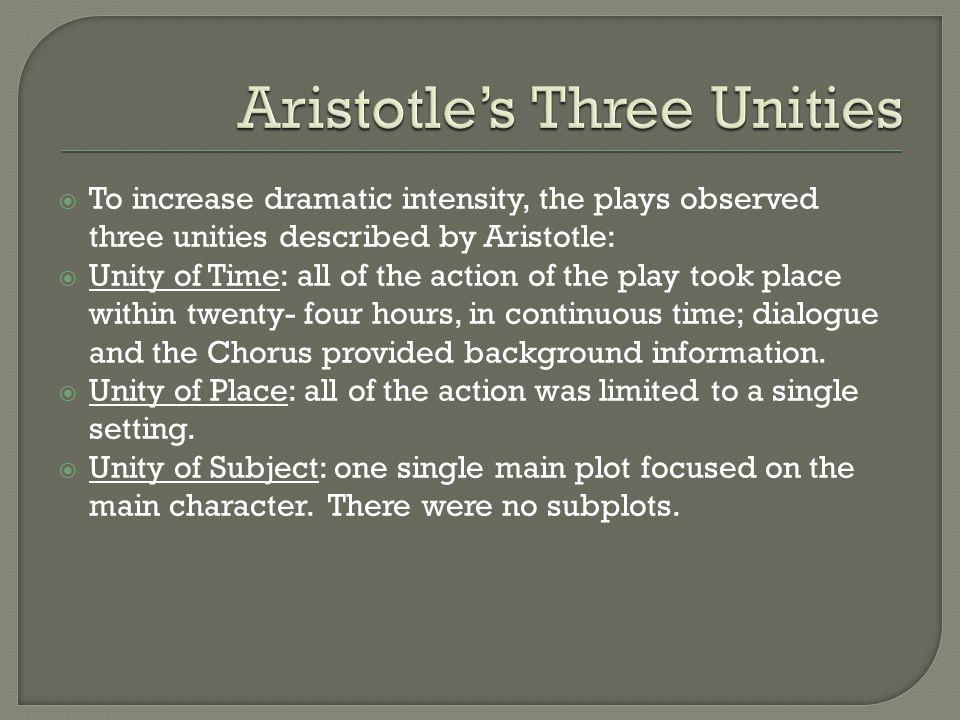 Aristotle's Three Unities