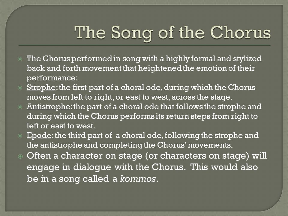 The Song of the Chorus