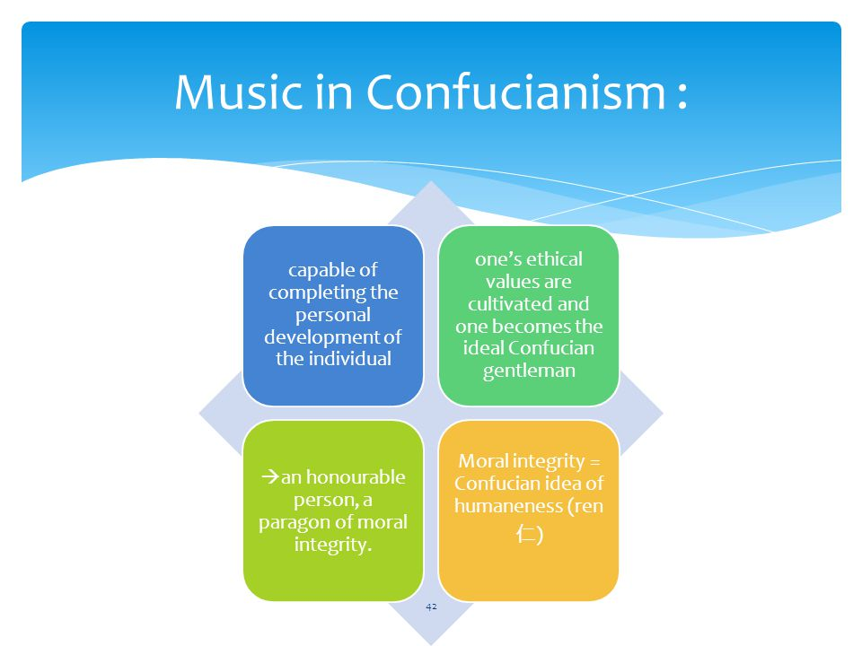 the confucian ideal person Confucianism, never a religion in  but advocated that a person might use the maximum means necessary  in the ideal confucian scheme of social stratification,.