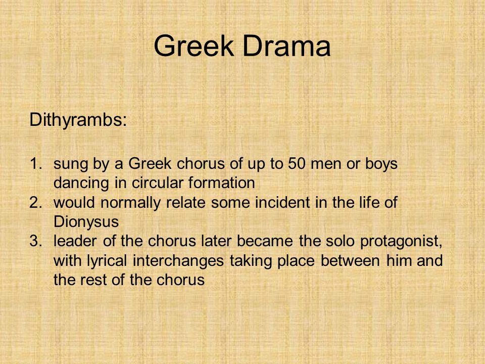 Greek Drama Dithyrambs: