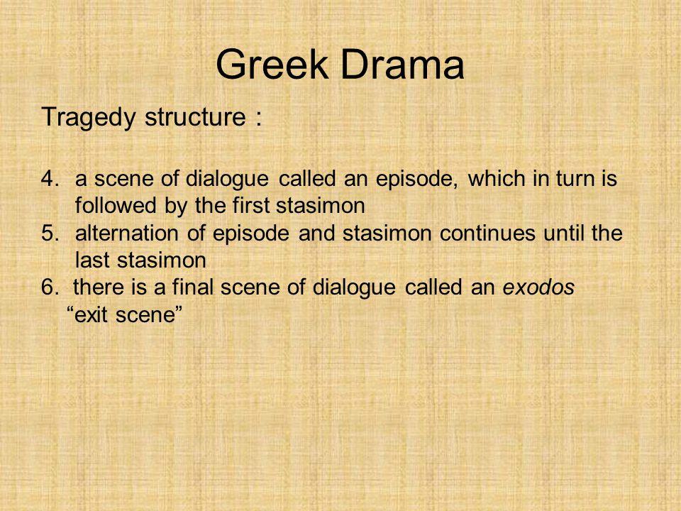 Greek Drama Tragedy structure :