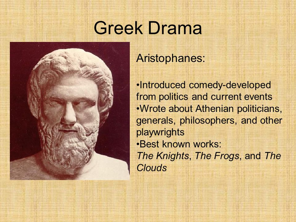 Greek Drama Aristophanes: