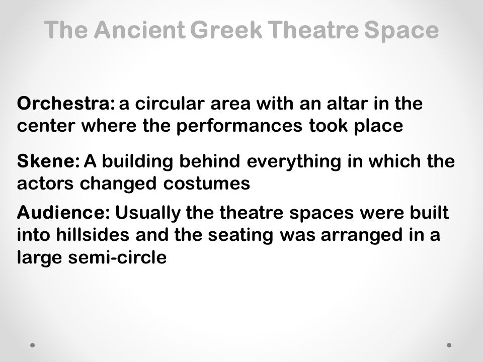The Ancient Greek Theatre Space