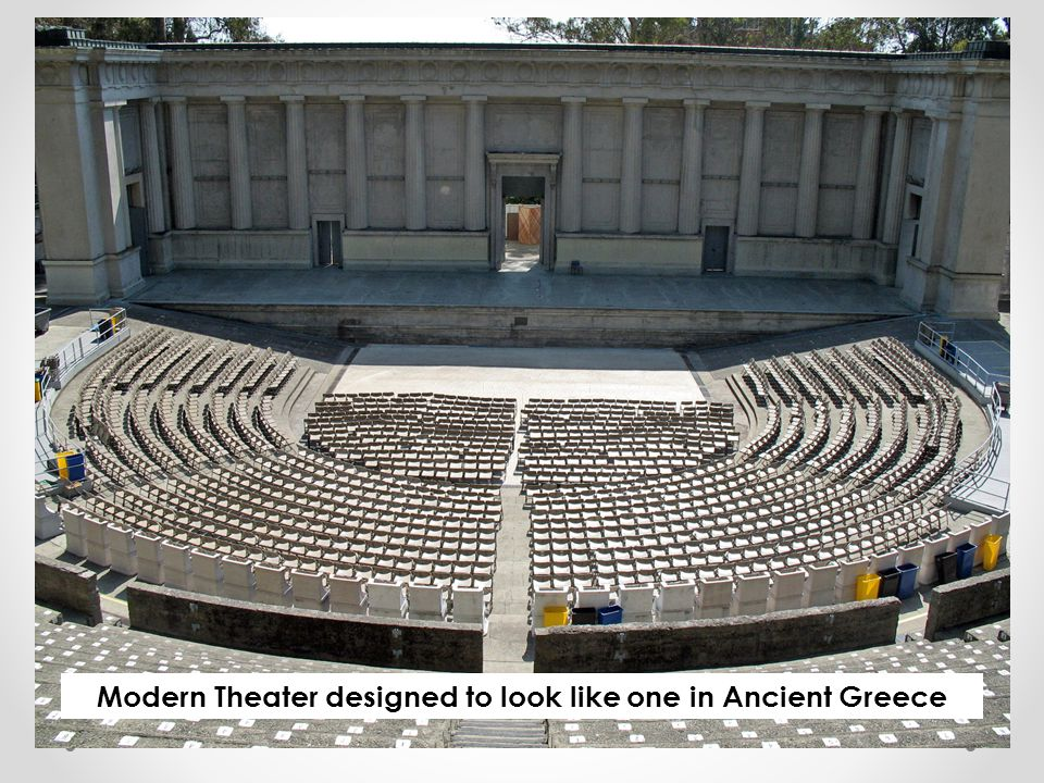 Modern Theater designed to look like one in Ancient Greece