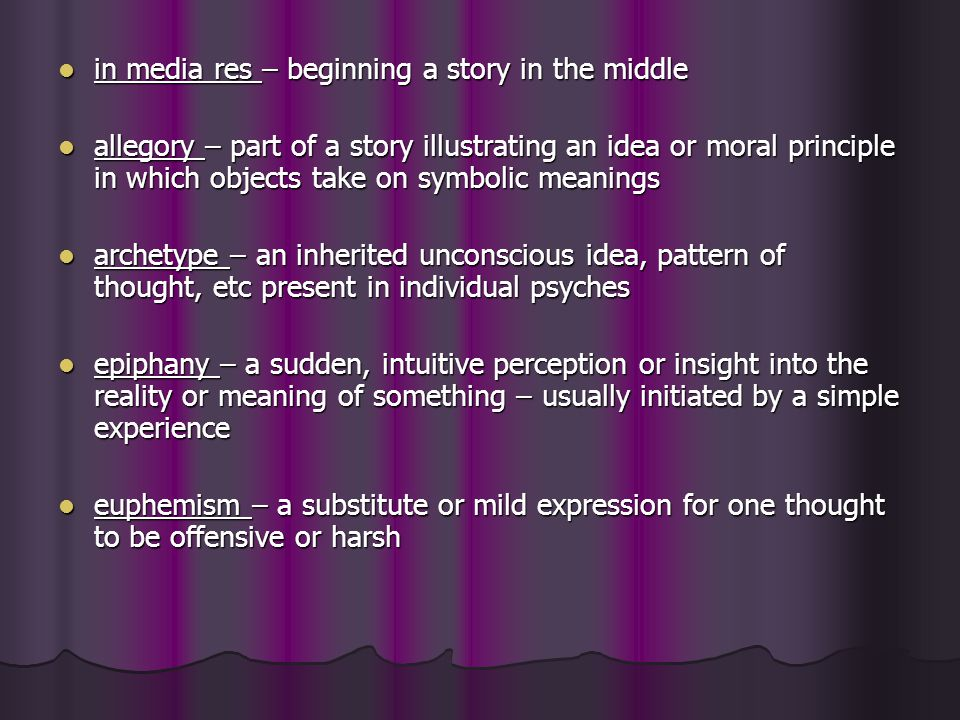 in media res – beginning a story in the middle