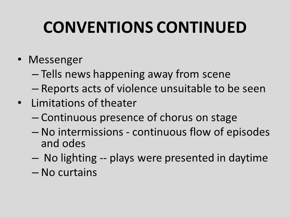 CONVENTIONS CONTINUED