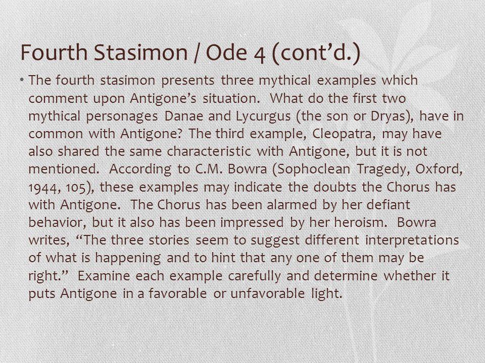 Fourth Stasimon / Ode 4 (cont'd.)