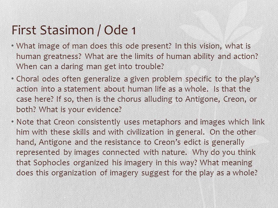 First Stasimon / Ode 1