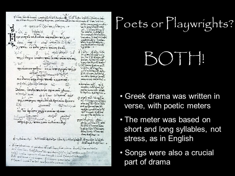 BOTH! Poets or Playwrights