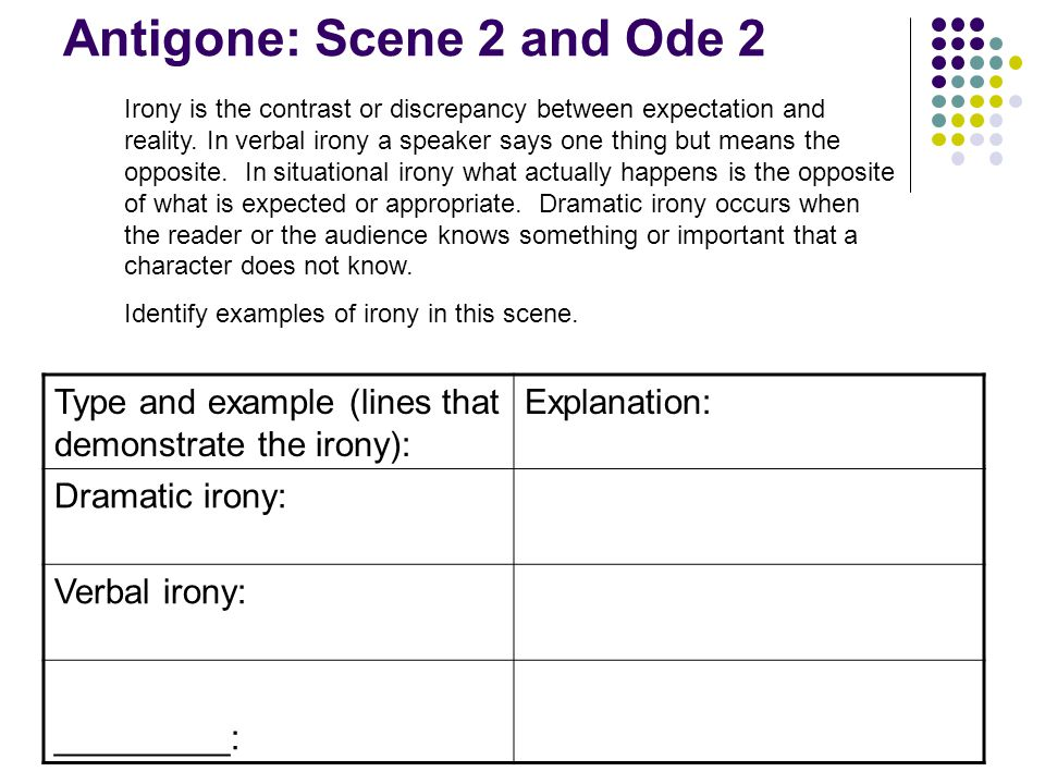 Antigone: Scene 2 and Ode 2