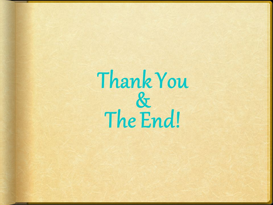 Thank You & The End!